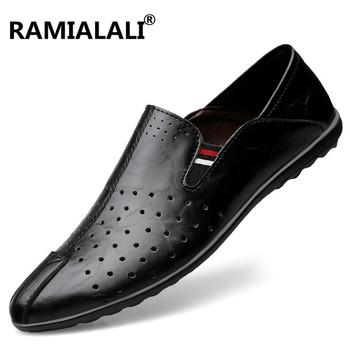 Duży rozmiar 36-46 buty męskie luksusowej marki męskie buty z prawdziwej skóry na co dzień męskie buty z prawdziwej skóry męskie mokasyny projektant mieszkania tanie i dobre opinie Dla dorosłych Przypadkowi buty Stałe Slip-on Wiosna jesień Oddychająca Wysokość zwiększenie Masaż Skóra bydlęca