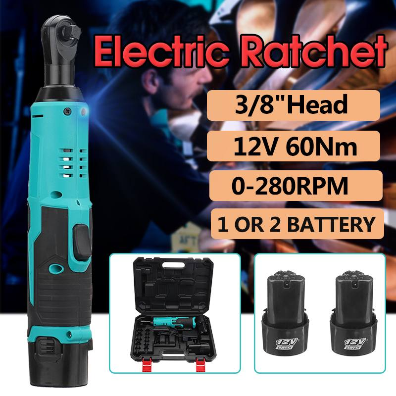 3/8 inch Wireless Electric Ratchet Wrench 12V Cordless Electric Impact Wrench Lithium-Ion Battery  220V Charger LED Power Tools3/8 inch Wireless Electric Ratchet Wrench 12V Cordless Electric Impact Wrench Lithium-Ion Battery  220V Charger LED Power Tools