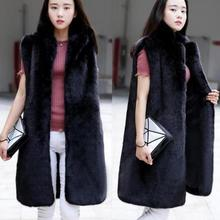 8508e8962e Clobee Women's Faux Fur Coat Long Fur Vests 2019 Winter Artificial Fur  Furry Fake Fur