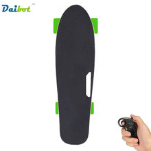 New 4 Wheel Electric Skateboard Hub Motor Wireless Remote Controller Children's Scooter Small Fish Plate Skate Board for Kids(China)