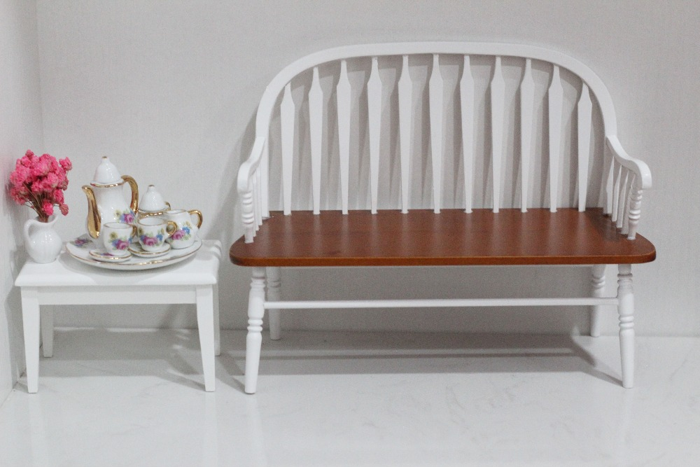1/6 échelle BJD Windsor chaise maison de poupée Miniature 18th meubles en bois à la main chaise 12 pouces Mini poupées décoration