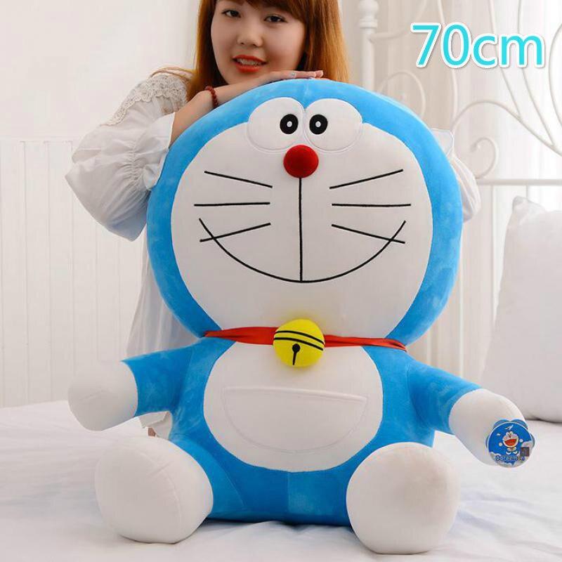 70cm Doraemon Kawaii caricatura suave muñeca de peluche de juguete Animal de peluche para bebés niñas niños amantes niños regalo de Navidad de buena calidad