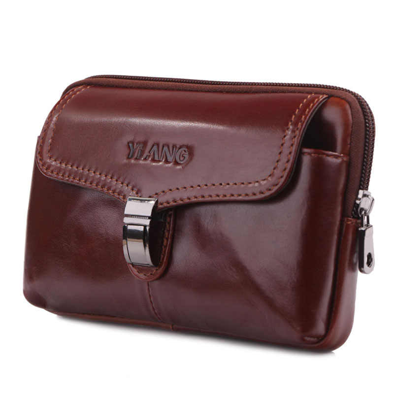 男性の革の牛革ヴィンテージヒップボムベルトポーチファニーパックウエスト財布財布旅行スリングビジネスカジュアルバッグ
