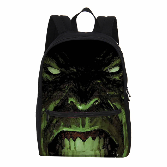 3de382c88f Hynes Eagle Canvas Backpacks For Men Women Fashion Marvel Super Hero Hulk  Printing 3D Bag Shoulder Bag Casual Daily Backpacks