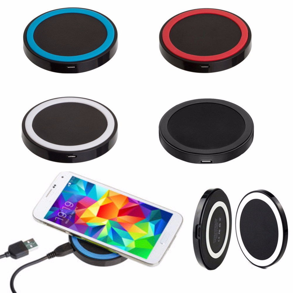 100% New Qi Wireless Charger For Samsung galaxy S8 S9 Plus S7 Note 8 Wireless Charging For iPhone X 8 8Plus Mobile Charger Pad