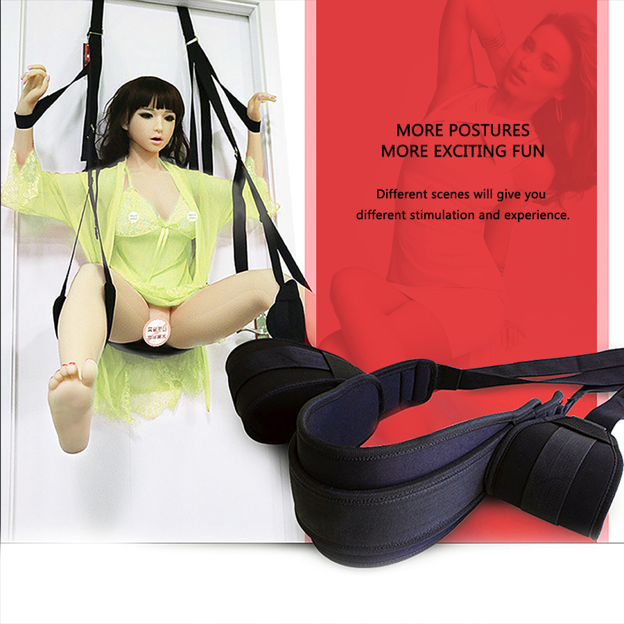 Sex Love Room Flirt Erotic Aid Hanging Door Swing Adult Game Chair Sexual Toys Sex Furniture For Couple With Cushion and Leg Pad