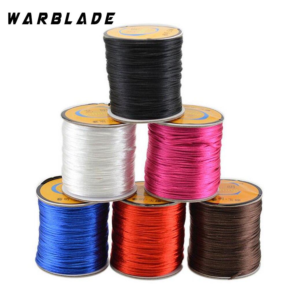 60M/Roll 1.5MM Soft Satin Rattail Silk Macrame Cord Nylon Shamballa String Thread For Diy Bracelet Necklace Jewelry Findings WBL