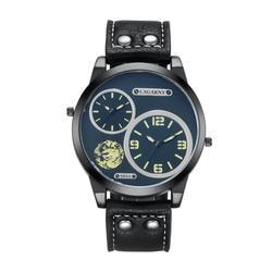Cagarny бренд классический Стиль кварцевые часы Для мужчин Спорт Мужские часы Dual Time зон армии Военная Униформа Наручные часы Relogio Masculino