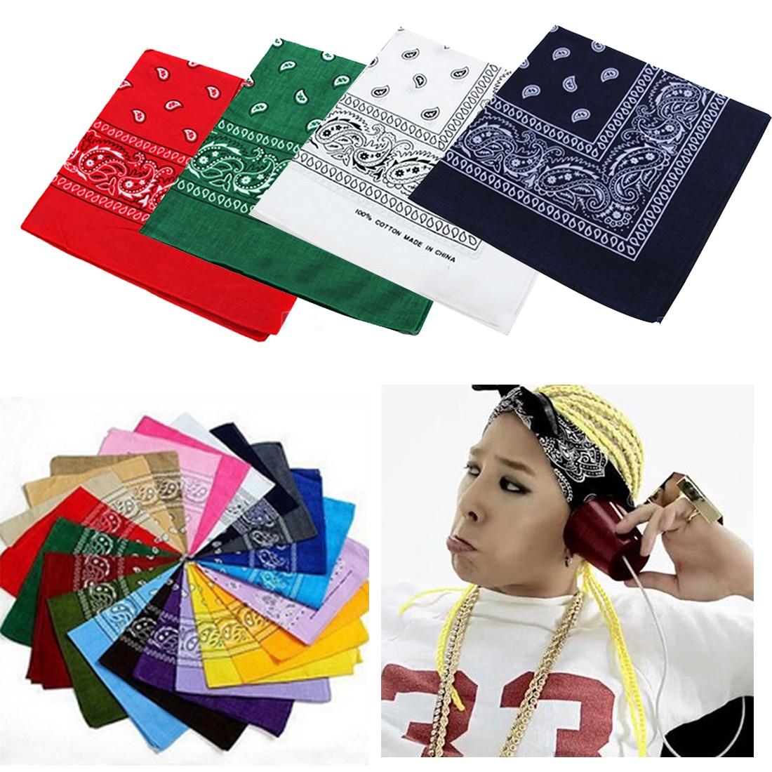 Headband Head Wear Tie Neck Scarf Wrist Wrap Band 100/% Cotton Plain Bandana