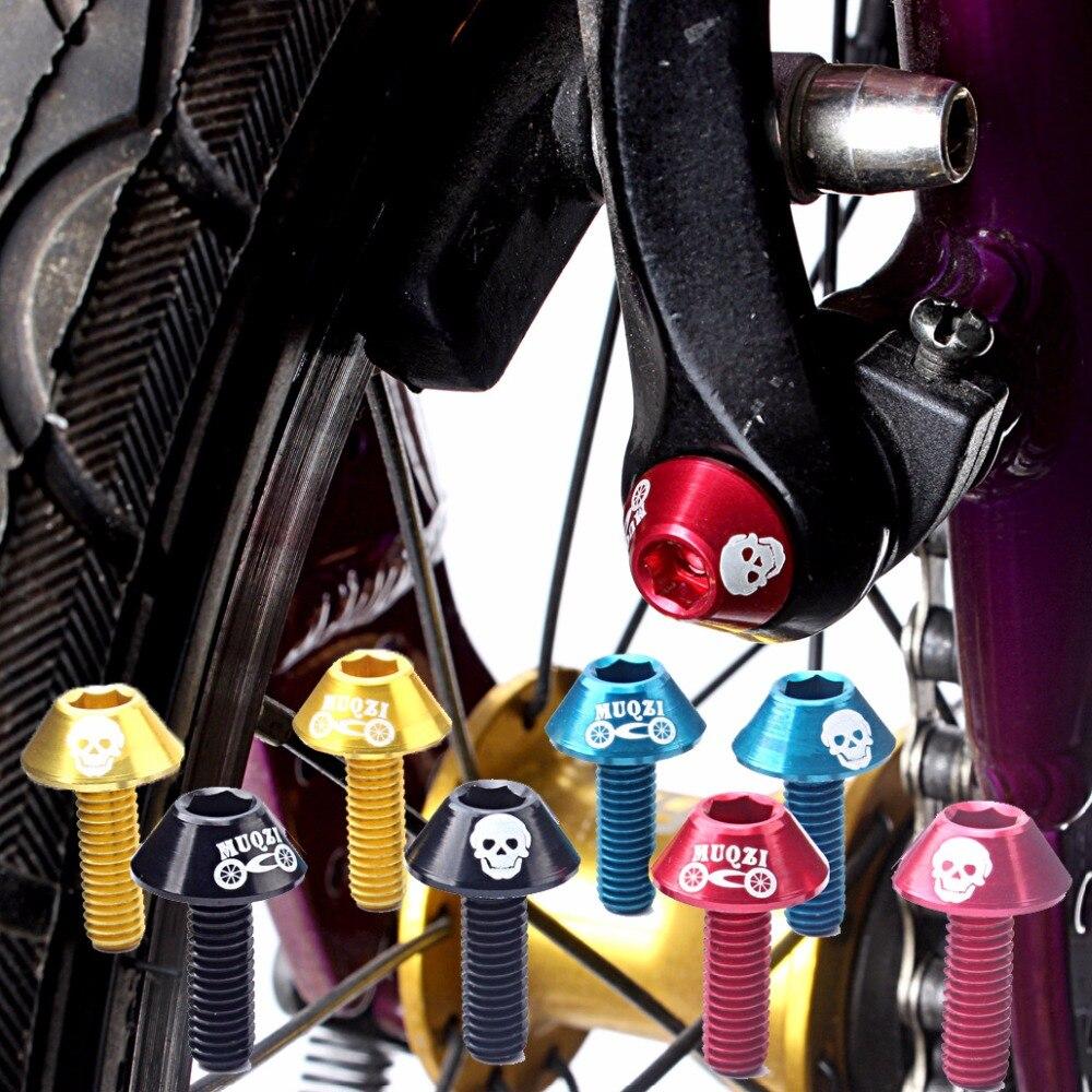 MUQZI 4 Pcs//Set M5 Bicycle Stem Screws Aluminum Alloy Road Bike Headset Bolts