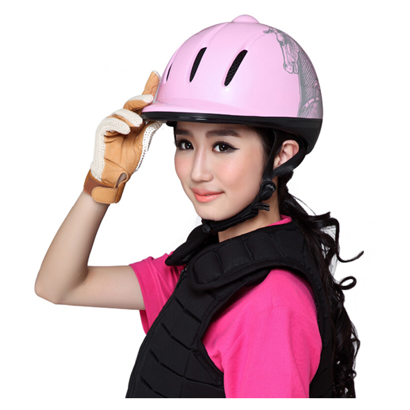 Women Child Equestrian Horse Riding Helmet or Riding Horse Helmet Safety Helmet for Horse Rider Helmets 52-61 CM lightweight m l xl ventilated adjustable safety horse racing carving hat equestrian riding helmet for men women climbing protect