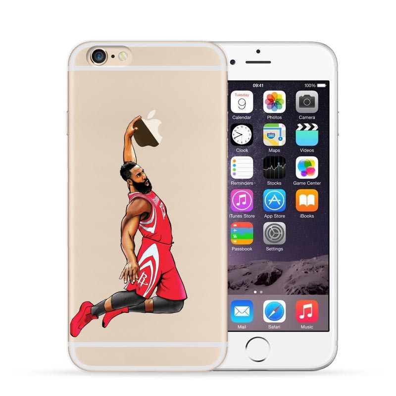 NBA Star Basketball Player Dunk Phone Case For iphone 7 7Plus 6 6S ...