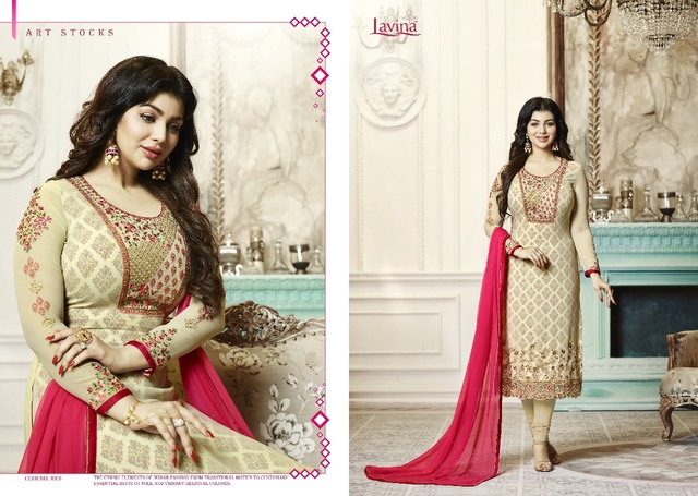 b90507815 LAVINA Indian Pakistan Women s Churidar Salwar Kameez Designer Flower  Embroidery Dress Set Bollywood Ethnic Party Dress 364.6 ₪. 1001 size 42