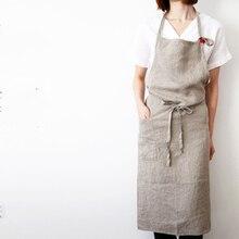 High-end-japanischen korea schürze leinen einfache fashion art attendant schöne salon nagel schürzen
