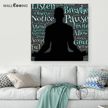wall cooing 2017 now home decoration canvas painting exercise yoga picture print fitness photography action design art(China)