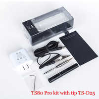 TS80 Mini Electric Soldering Iron Station Portable Organizer Bag Kit Adjustable Temperature Digital OLED Display