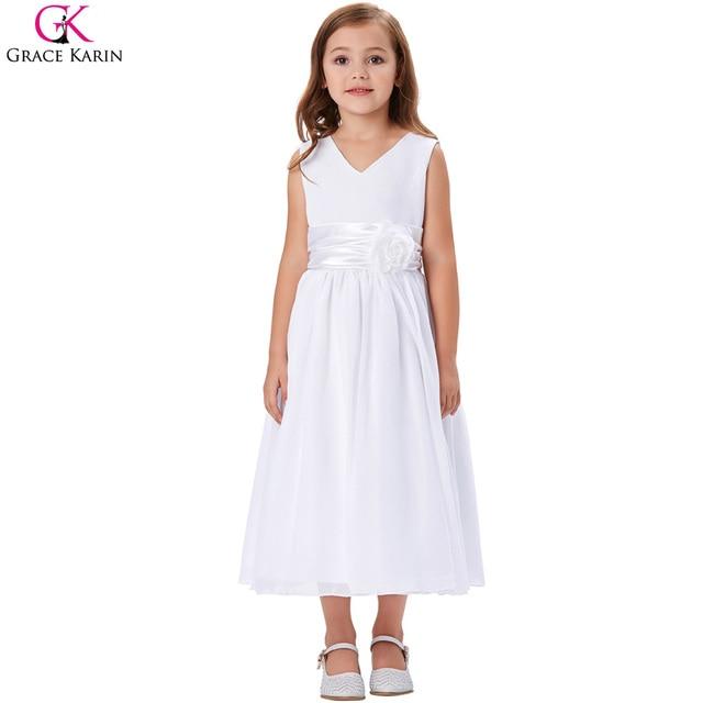 Retail Flower Girl Dresses For Weddings Elegant Trailing Gown Free Shipping Girls  Princess Dress Kids Evening 888485cc0159