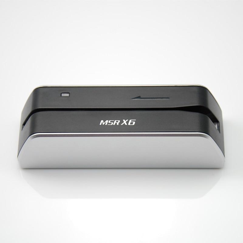 Deftun MSR X6 lector de tarjetas USB compatible con msr206U msr605 msrx6 MSR X6BT