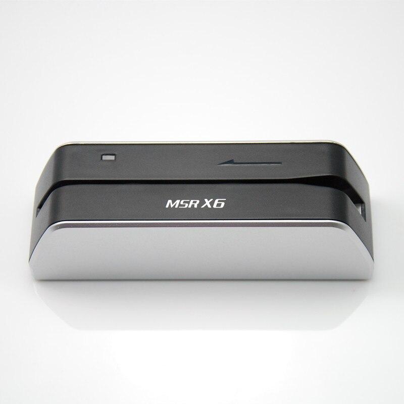 MSR X6 USB escritor y lector de tarjetas compatibles con msr206U msr605 msrx6 MSR X6BT bluetooth