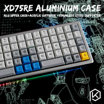 Anodized Aluminium case for xd75re xd75 60% custom keyboard acrylic panels acrylic diffuser can support Rotary brace - DISCOUNT ITEM  0% OFF All Category