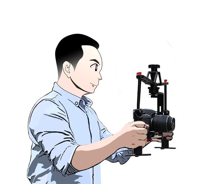 Estabilizador de cámara de vídeo cardán de mano ajustable de aleación de Allo para cámara DSLR videocámara 6 kg carga - 4
