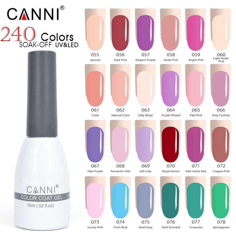 Nail Gel Beauty & Health Canni 15ml Led Nail Gel Varnish New Hottest Color Glitter Sequins Nail Art Paint Gel Lacquer Soak Off Organic Uv Nail Gel Polish