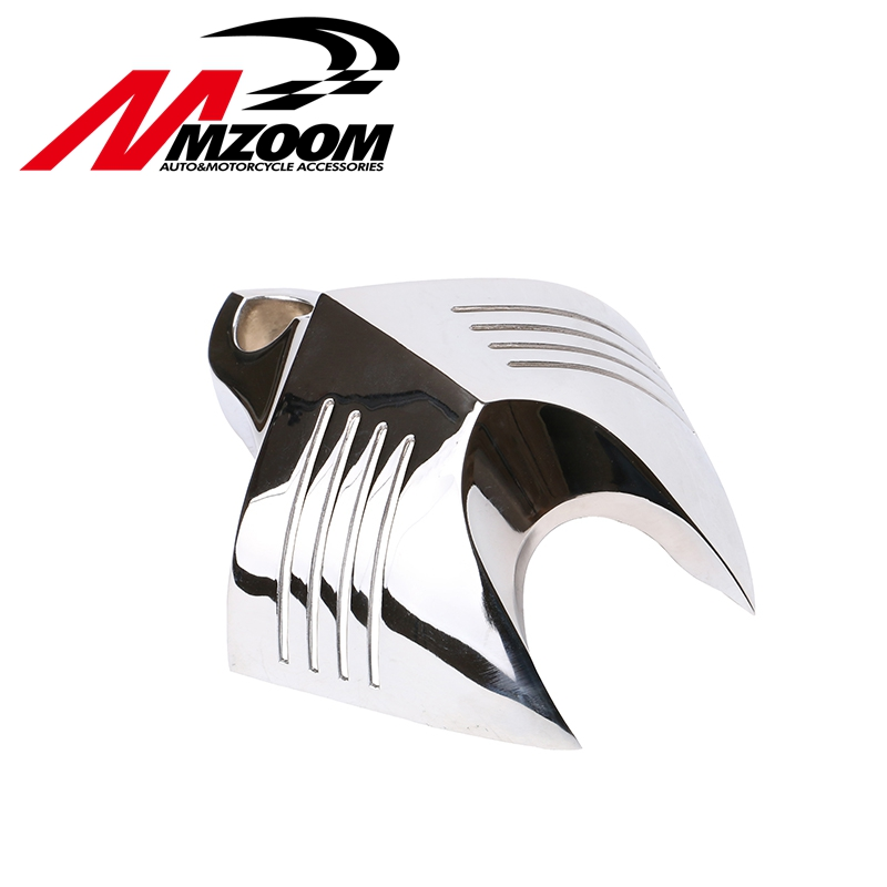 High Quality Chrome Motorcycle Bike V-shield Horn Cover For Dyna Softail Sportster Electra Road King Tour Glide motorcycle chrome horn cover for harley davidson dyna softail sportster electra road king street tour glide c 5