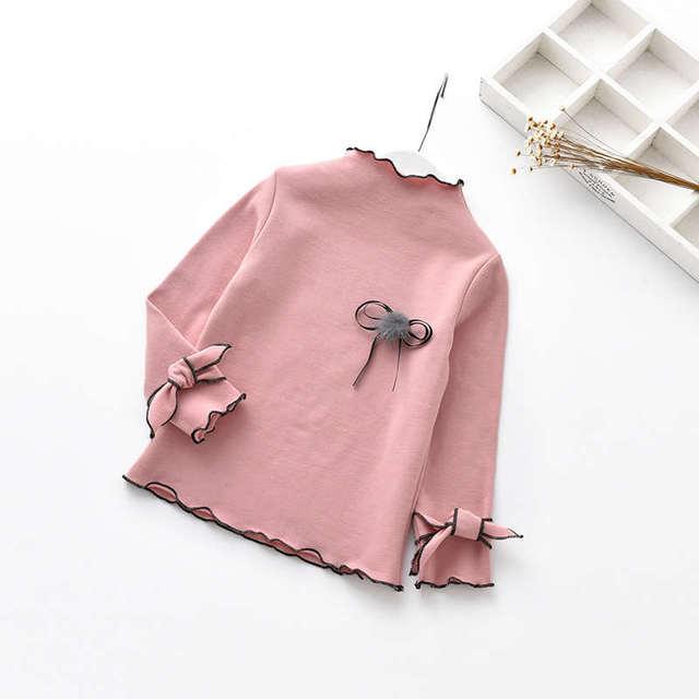 e9db625987ba € 9.04  Aliexpress.com: Comprar 2018 primavera y otoño bebé Camisetas, niño  Niñas arco sólido manga larga de la camisa, 2 7 viejos años, 5 ...