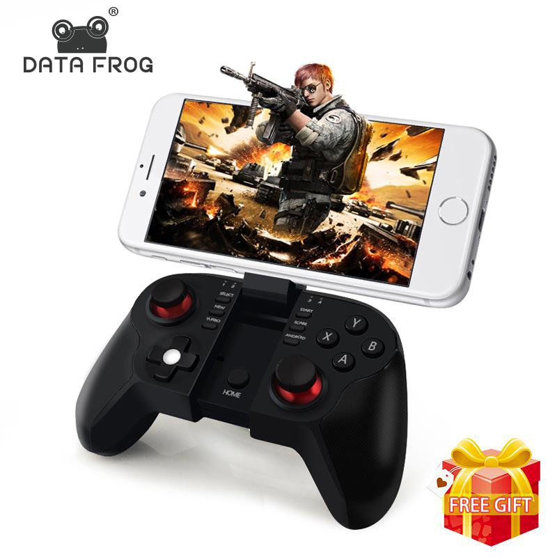 Data Frog VR Bluetooth Android Gamepad Wireless Joystick Controller For PC Smart TV  Mini Gaming Gamepads-in Gamepads from Consumer Electronics