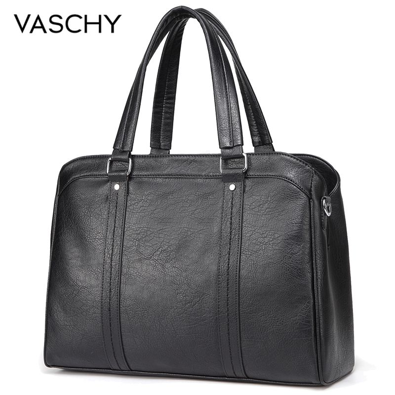 VASCHY Handbag for Women Laptop Bag Faux Leather Top Handle Business Satchel Tote Bag for Work with Detachable Shoulder Strap tote bags for work