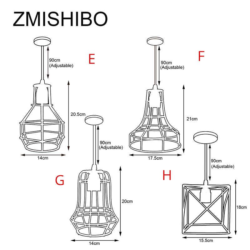 ZMISHIBO железная подвесная клетка для осветительного прибора 110 V-220 V E27 черный Nordic Винтаж со стразами и металлическими лампы для Гостиная приспособления для подвесных светильников
