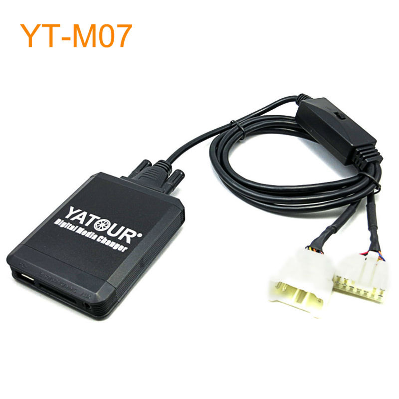 Yatour M07 Car MP3 USB SD CD Changer for iPod AUX with Optional Bluetooth for Toyota for Lexus for Scion Cars yatour ytm07 music digital cd changer usb sd aux bluetooth ipod iphone interface for volvo hu xxx radios mp3 integration kit