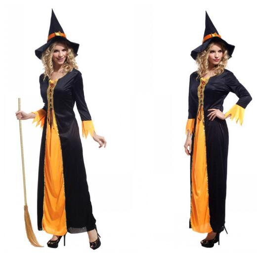 Ladies Purim Brand New adult woman Perfomance dress Halloween witch carnival costume ...