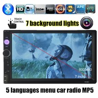 2 Din 7 Inch LCD Touch Screen Car Radio Stereo Bluetooth Audio MP5 MP4 Player Support