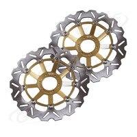 Для Honda CBR1100XX CB1300 CB1284 X1100 одиннадцать CB 1300 1284 спереди тормозные диски мотоцикл Запчасти аксессуары 2 шт.
