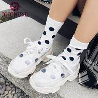 JOJONUNU Women Vulcanized Shoes Real Leather Casual Shoes Women Fashion Transparent PVC Lace Up Fitness Sneakers Size 34 49