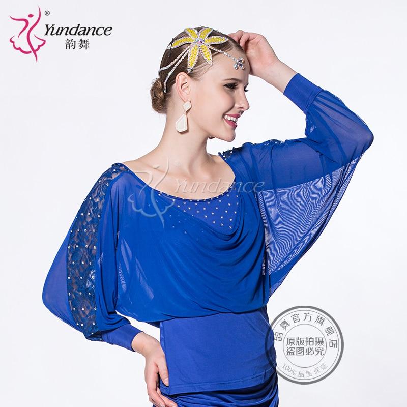 Customized Lady Latin Dancing Shirt Modern Dance Costume Waltz Valse Tango Galop Fox Trot Social Dance Suit B-2723