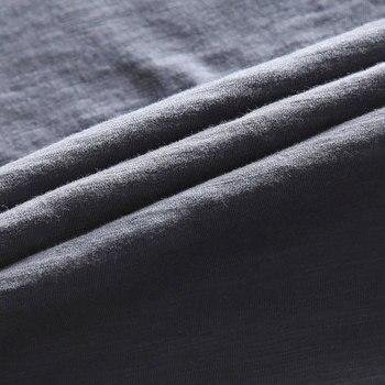 Zecmos Long Sleeve Men T-Shirt V Neck Male T Shirt Cotton Fashion Top Tees Slim Fit 6