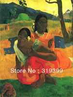 100% handmade Oil Painting Reproduction on Linen canvas,Quand te maries tu by Paul Gauguin,Free DHL Shipping,Museum quality