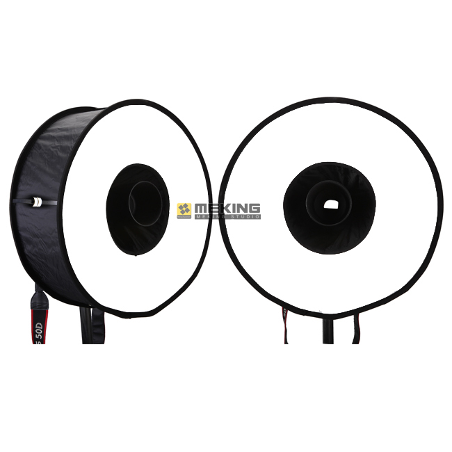 2pcs Ring Softbox For SpeedLite Flash 45cm Easy-fold Soft box for Canon Nikon Pentax Olympus Yongnuo Pixel speedlight