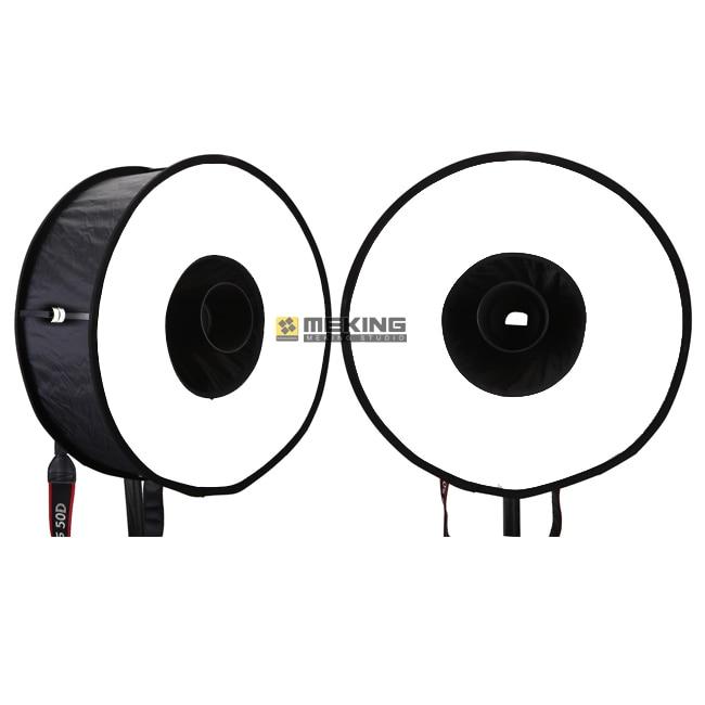 2pcs Ring Softbox For SpeedLite Flash 45cm Easy-fold Soft box for Canon Nikon Pentax Olympus Yongnuo Pixel speedlight genuine meike mk950 flash speedlite speedlight w 2 0 lcd display for canon dslr 4xaa