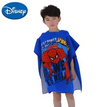 Disney Baby Towel Bath Towel Cartoon Mickey Minnie Spider Man Elsa Hooded Cloak Soft Kids Microfiber Beach Towels For Boys Girls цены