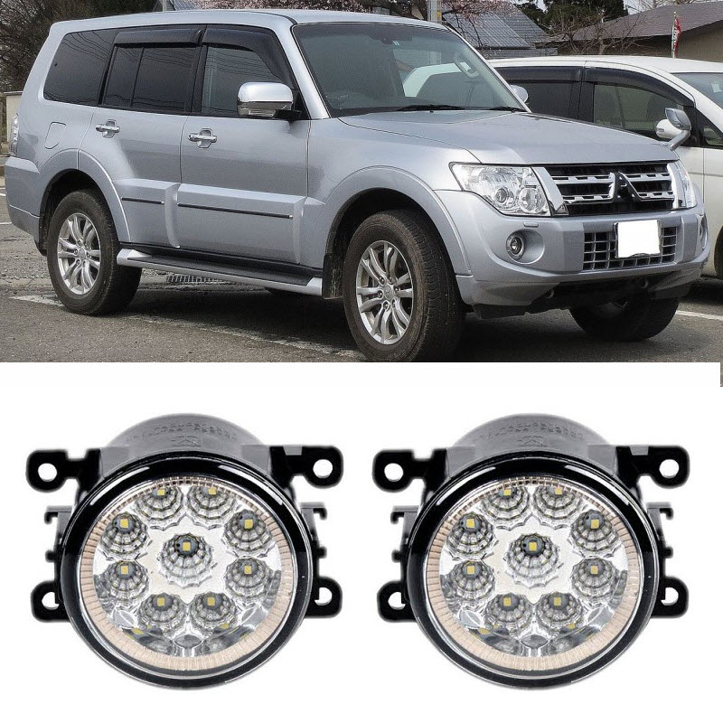Car-Styling For Mitsubishi Pajero Montero Shogun 2006-2015 9-Pieces Led Fog Lights H11 H8 12V 55W Fog Head Lamp fog lights for mitsubishi pajero sport 2008 2015 1 set 2 pcs car accessories styling car decoration automotive front light