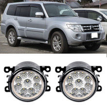 Car-Styling For Mitsubishi Pajero Montero Shogun 2006-2015 9-Pieces Led Fog Lights H11 H8 12V 55W Fog Head Lamp
