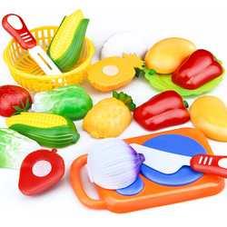 Дропшиппинг 12 шт. Набор Дети кухня игрушка пластик фрукты овощи еда резка ролевые игры раннего образования детей игрушечные лошадки