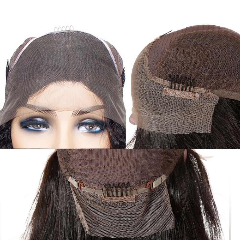 Али Fumi queen свободные волнистые человеческие волосы парик для женщин 130% плотность натуральный цвет Предварительно выщипанные волосы с волосами младенца