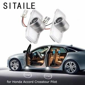 Image 1 - SITAILE Auto Türen Lichter für Honda Accord Cross Pilot Logo Abzeichen Emblem Licht 12v Led Auto Led Licht Auto styling