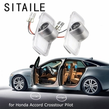 SITAILE Car Doors Lights for Honda Accord Crosstour Pilot Logo Badge Emblem Light 12v Led Auto Led Light Car styling