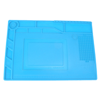 Heat Resistant Insulation Maintenance Platform Electronic Repair Desk Mat Magnetic Silicone Pad Soldering Repair Tool Kit