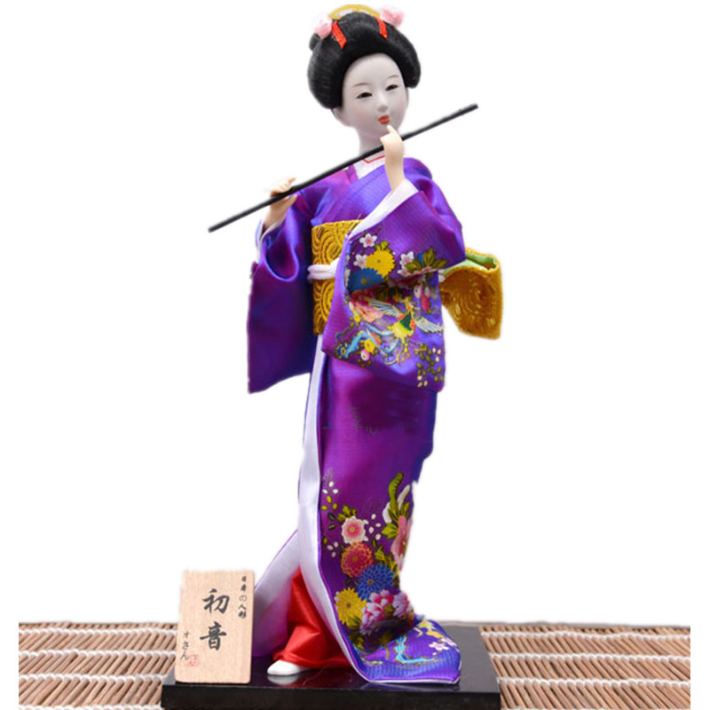 Purple Geisha Statues Crafts Hand made Japanese Geisha Doll with beautiful kimono Unique Home decorative crafts|doll doll|dolls dolls dolls|doll geisha - title=